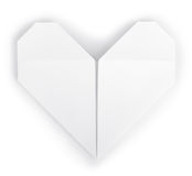 Paper heart origami royalty free stock photo