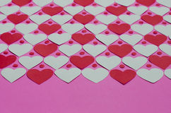 Paper Heart Pattern Background. Background of paper hearts pattern for Valentine's day Royalty Free Stock Images