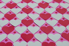 Paper Heart Pattern Background. Background of paper hearts pattern for Valentine's day Royalty Free Stock Photos