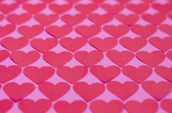 Paper Heart Pattern Background. Background of paper hearts pattern for Valentine's day Royalty Free Stock Image