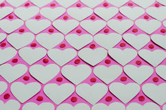 Paper Heart Pattern Background. Background of paper hearts pattern for Valentine's day Stock Photos