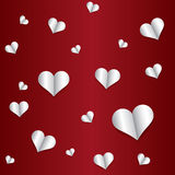 Paper heart pattern Royalty Free Stock Image