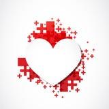 Paper heart positive concept Stock Photo