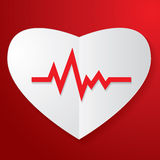 Paper Heart and Pulse Stock Photography