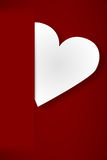 Paper heart in red envelope Royalty Free Stock Photo