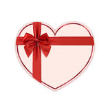 Paper heart with red ribbon and a bow Stock Photography