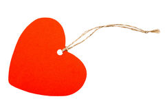 Paper heart with rope Royalty Free Stock Photos