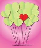 Paper heart shape balloons Royalty Free Stock Photo