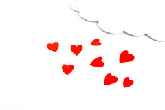 Paper heart shape with cloud symbol Royalty Free Stock Photos