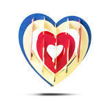 Paper heart shape Stock Image