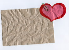 Paper and Heart Shape Royalty Free Stock Images