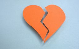 Paper heart Stock Images