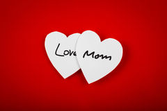 Paper heart shape symbol for mother's day Stock Photos