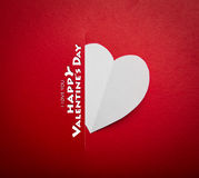 Paper heart shape symbol for Valentines day Stock Photography