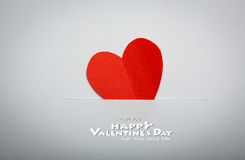 Paper heart shape symbol for Valentines day Royalty Free Stock Photos