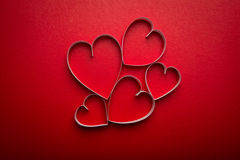 Paper heart shape symbol for Valentines day with copy space Stock Photography
