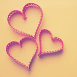 Paper heart shape symbol for Valentines day Royalty Free Stock Photography