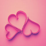 Paper heart shape symbol for Valentines day Stock Photo