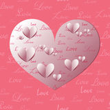 Paper Heart Shapes Stock Photos