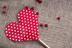 Paper Heart on Stick Stock Photos