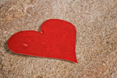 Paper heart on stone Stock Photo