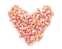 Paper heart symbol Stock Photography