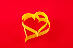 Paper Heart, symbol of Valentine\'s Day Stock Image