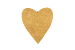 A paper heart tag Royalty Free Stock Photo