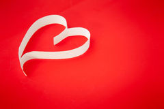 Paper heart valentine Stock Photos