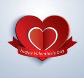 Paper heart valentine card Royalty Free Stock Photos