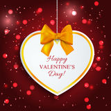 Paper heart Valentine's day Royalty Free Stock Photos
