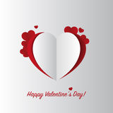 Paper heart. Valentine. Vector illustration Royalty Free Stock Photos