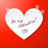 Paper heart Valentines day card Stock Images