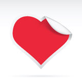 Paper Heart. Vector illustration of a creative paper heart Stock Photos