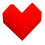 Paper heart. On white background Stock Photos