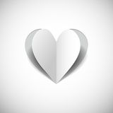 Paper heart on white background.jpg Stock Photography
