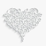 Paper heart on white Stock Image