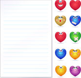 Paper with hearts Royalty Free Stock Photo