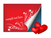 Paper with hearts Royalty Free Stock Images