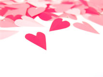 Paper hearts Stock Image