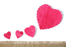 Paper hearts background Royalty Free Stock Photography