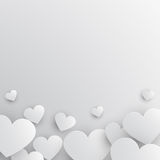 Paper hearts background Royalty Free Stock Photo