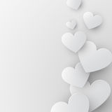 Paper hearts background Stock Photo