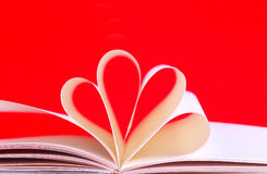 Paper hearts book Stock Photography