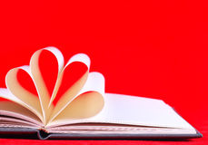 Paper hearts book Stock Images