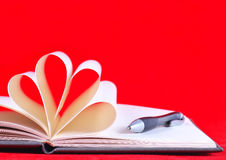 Paper hearts book Royalty Free Stock Photo