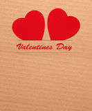 Paper hearts on brown background Royalty Free Stock Image