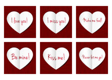 Paper hearts card. Stock Photos