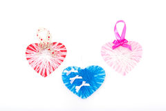 Paper hearts card for valentine`s day. Stock Photo