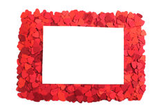 Paper hearts frame Royalty Free Stock Photo